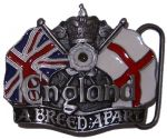 England A Breed Apart White Rose Belt Buckle + display stand. Code AC5 White